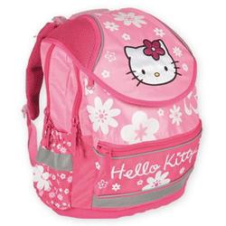 Ghiozdanul anatomic si ergonomic pentru scoala Hello Kitty are 2 compartimente mari cu fermoare si 2 buzunare frontale incapatoare.