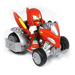 Jucarii seria de jocuri Sonic - Figurina Knuckles cu masinuta 13cm