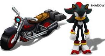 Super eroul Shadow jucarii Sonic cu motocicleta