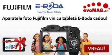 La o camera foto FujiFilm primesti CADOU o tableta!