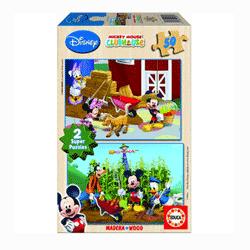 Puzzle din lemn pentru copii de 3 ani. Mickey Mouse Clubhouse