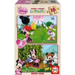Puzzle simplu din lemn pentru copii tema Minnie Mouse