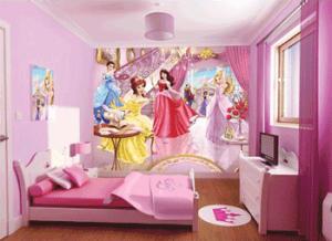 Tapet cu printese pentru dormitor de fetite