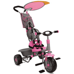 Tricicleta Tracker cadru metalic, parasolar si control