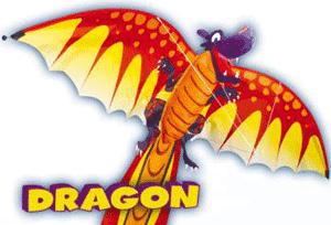 Zmeul zburator in forma de dragon