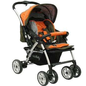 Carucior bebe cu accesorii pentru orice anotimp cu maner reversibil si roti cu protectie si suspensii