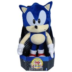 Jucarie de plus Sonic de 40 cm. Produs original ambalat intr-o cutie cadou.