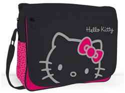Gentuta de umar Hello Kitty dispune de un compartiment mare cu fermoar.