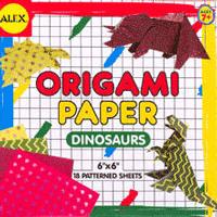 Set hartie origami modele cu animale - dinozauri pentru copii