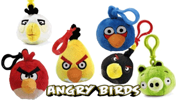 Breloc cu figurine Angry BIrds