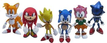 Set cadou - cutie 6 figurine personajul Sonic si prietenii lui