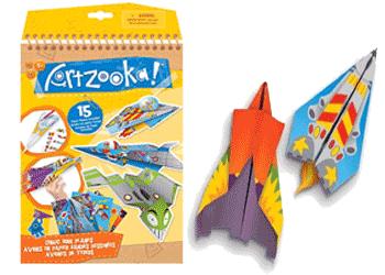 Set creatie avioane din hartie Origami pentru copii
