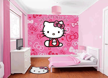 Tapet Hello Kitty camera de fetite
