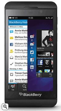 Specificatii BlackBerry Z10: procesor de 1,5 GHz dual-core si 2GB RAM, cu un spatiu de stocare de 16GB camera foto time burst 8mb.