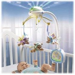 Carusel Fisher Price Nature Bearries 3 in 1 pentru patutul bebelusului