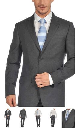 Costum elegant barbatesc Valentino Jonathan din lana virgina de culoare gri