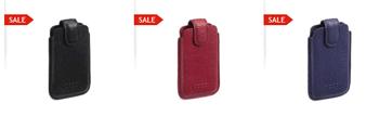 Husă din piele, ECCO Belaga, pentru telefonul mobil disponibilă în culori atractive şi un aspect elegant si luxos.