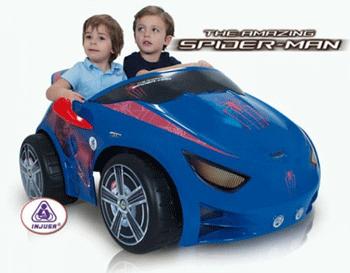 Masinuta electrica pentru copii Injusa Evo Spiderman 12 V are 2 locuri si 2 motoare