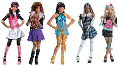 Costume pentru fetite: Monster High (nu doar pentru Halloween)