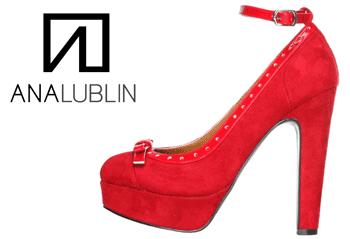 Pantofi Bordeaux cu toc si platforma brand Ana Lublin.