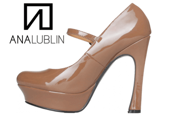 Pantofii Kaki Ana Lublin cu toc si platforma