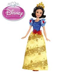 Papusa Printesa Disney Alba ca Zapada, articulata si cu accesorii.