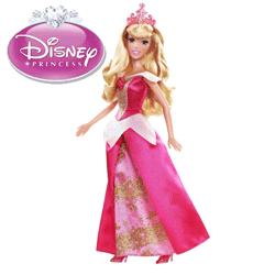 Papusa Printesa Disney Aurora - Frumoasa din Padurea Adormita, articulata si cu accesorii.