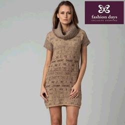 Rochita tricotata de primavara din lana pura virgina