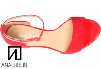 Sandalele Ana Lublin Rosso cu toc si platforma