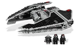 Figurine Lord SIth Darth Malgus cu naveta Lego Razboiul Stelelor