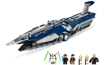 Nava transport Malevolence cu figurine: Count Duku, Anakin Skywalker, Padmé Amidala, General Grievous