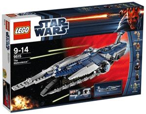Nava spatiala Malevolence Set Lego cu figurine: Anakin Skywalker, Padme, Count Duku