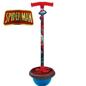 Acest băţ Pogo sau T-Ball Spiderman de la Mondo are o bază de cauciuc și un mâner ușor de prindere. O jucarie cu Spiderman amuzanta si foarte buna pentru exercițiile fizice de dezvoltare a musculaturii picioarelor copiilor.