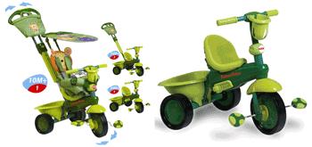 Tricicleta Fisher Price 3 in 1 Royal de culoare verde