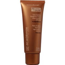 Academie Bronzecran Face & Body Sun Care High Protection SPF 50 este o lotiune pentru fata si corp, cu protectie mare - SPF 50