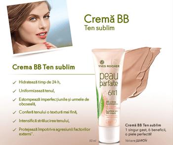 Crema BB Ten Sublim, 1 singur gest, 6 beneficii, o piele sublima! Crema hidratanta pentru ten, suplete, frumusete, estompare