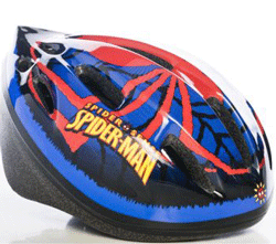 Casca de protectie Spiderman: biciclete, role, skateboard