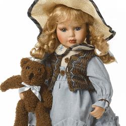 Papusa de portelan: Fetita cu Ursulet