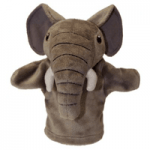 Papusa de mana si Marionete pentru copii Elefant