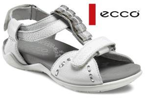 Sandale ECCO din piele pentru fetite