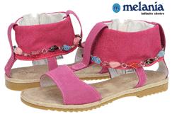 Sandale Melania din piele pentru fetite