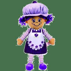Papusa parfumata sub forma de Briosa Miss Muffin Plum