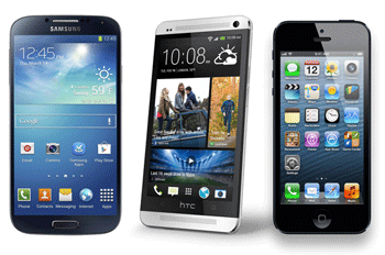 Smartphoneul HTC One in replica la Apple iPhone5 si Samsung Galaxy S4