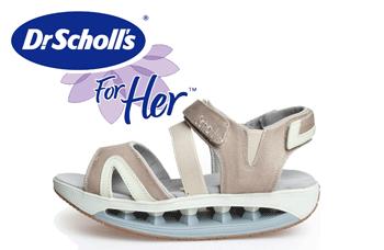 Sandale bej cu talpa groasa Dr Scholl, sport
