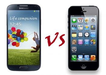 Samsung Galaxy S4 castiga detasat in fata lui iPhone5 dpdv al displayului