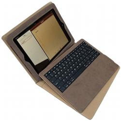 Husa din piele naturala cu tastatura bluetooth pentru Ipad 2 si Ipad 3