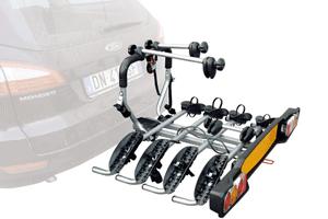 Sistemul suport auto Peruzzo Siena pentru 4 biciclete beneficiaza de un sistem rapid de cuplare pretabil pentru majoritatea tipurilor de carlige