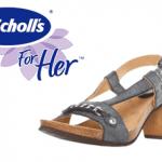 Sandale cu toc Dr. Scholl piele cerata