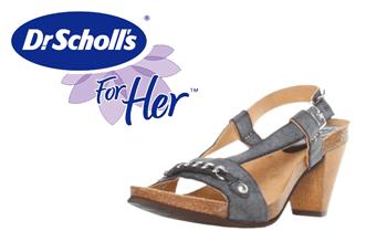 Sandale cu toc Dr Scholl. Sunt confectionate din piele cerata si au branturi si tocul de 7 cm. Deosebit de comode si simple, se asorteaza la o tinuta smart casual sau eleganta de vara.