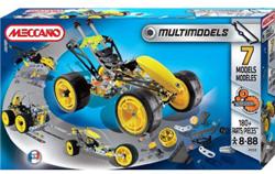 Set joc de constructie Meccano. Se pot crea 7 modele diferite de masini